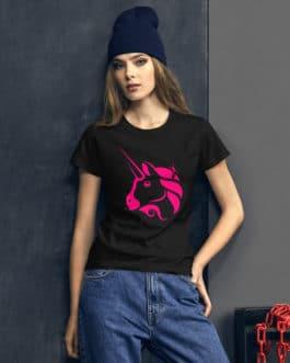 T-shirt à Manches Courtes pour Femmes Crypto – Uniswap