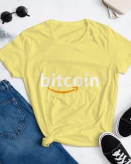 T-shirt à Manches Courtes pour Femmes Crypto – Bitzon