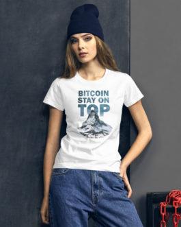 T-shirt à Manches Courtes pour Femmes Crypto – BTC TOP