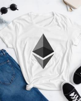 T-shirt à Manches Courtes pour Femmes Crypto – ETH