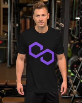 T-shirt à Manches Courtes Crypto – Polygon